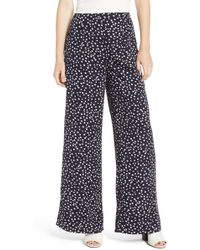 Storee - Abstract Wide Leg Pants - Lyst