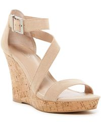 Charles David | Leanna Cork Wedge Sandal | Lyst