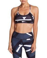 DSGN Yoga - Printed Crisscross Back Sports Bra - Lyst