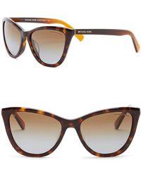 Michael Kors - Women's Divya 57mm Polarized Cat Eye Sunglasses - Lyst