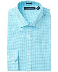 Tommy Hilfiger - Washed Gingham Slim Fit Oxford Dress Shirt - Lyst