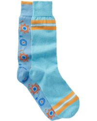 Lorenzo Uomo - Italian Cotton Blend Crew Socks - Pack Of 2 - Lyst