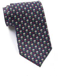 Thomas Pink - Heart & Flower Print Silk Tie - Lyst