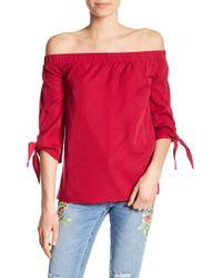 Dex - Off-the-shoulder 3/4 Length Sleeve Top - Lyst