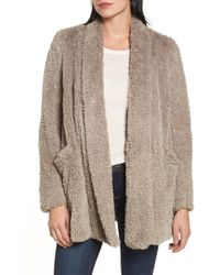 Kenneth Cole - Teddy Bear Faux Fur Clutch Coat - Lyst