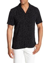 Tocco Toscano - Short Sleeve Dot Print Woven Shirt - Lyst