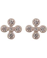 Freida Rothman - Cz Accent Clover Stud Earrings - Lyst