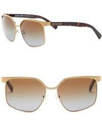 Michael Kors - August 56mm Square Sunglasses - Lyst