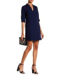 Lush - 3/4 Length Sleeve Novak Shift Dress - Lyst