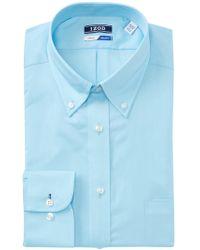 Izod - Solid Twill Regular Fit Dress Shirt - Lyst