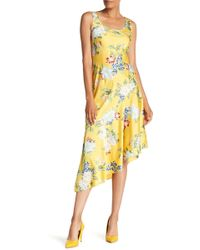Donna Morgan - Sleeveless Floral Print Charmeuse Dress - Lyst