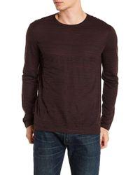 John Varvatos - Distorted Stripe Crew Neck Sweater - Lyst