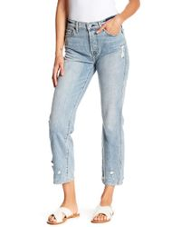 7 For All Mankind - Edie Extreme Hem Jeans - Lyst