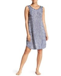 Kensie - Stripe Knit Nightgown - Lyst