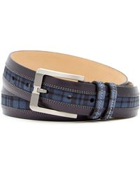 Mezlan - Diver Parma Plaid Belt - Lyst