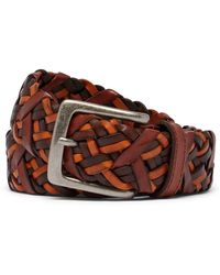 Tommy Bahama - Braided Vachetta Leather Belt - Lyst