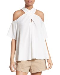 A.L.C. - Kayley Silk Cold Shoulder Top - Lyst