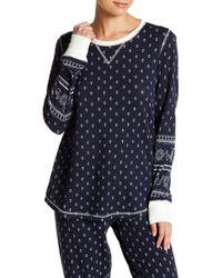 Pj Salvage - Long Sleeve Waffle Knit Pj Shirt - Lyst