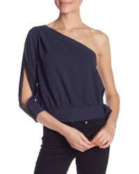 Habitual - Mia One-shoulder Side Tie Top - Lyst