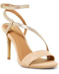 Calvin Klein - Nissa Suede & Metallic Leather Sandal - Lyst
