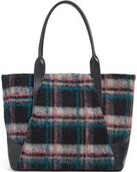 Treasure & Bond - Ashton Plaid Wool & Leather Tote - Lyst