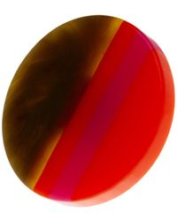 Trina Turk - Large Multicolour Resin Disc Ring - Size 7 - Lyst