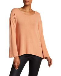Go Couture - Drop Shoulder Bell Sleeve Sweater - Lyst