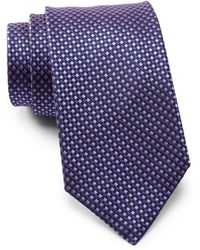 BOSS - Checkered Silk Tie - Lyst