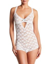 Honeydew Intimates - Mia Open Gusset Lace Teddy - Lyst