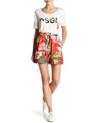 Desigual - Flores Patterned Shorts - Lyst