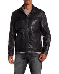 Cole Haan - Leather Trucker Jacket - Lyst