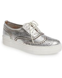 Shellys London - Kimmie Perforated Leather Oxford Trainer - Lyst