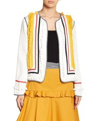 English Factory - Fringe Trim Jacket - Lyst