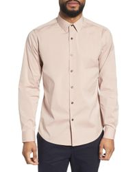 Theory - 'sylvain' Trim Fit Long Sleeve Sport Shirt - Lyst