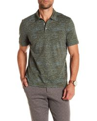 Perry Ellis | Shirt Sleeve Pima Printed 3-button Polo | Lyst