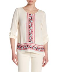 Skies Are Blue - Embroidered Blouse - Lyst