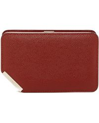 Bally | Corner Frame Embossed Leather Clutch | Lyst