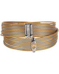 Alor - Two-tone Logo Detail Wrap Bracelet - Lyst