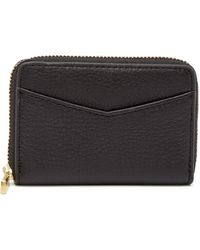 Fossil - Mini Zip Leather Wallet - Rfid Protection - Lyst