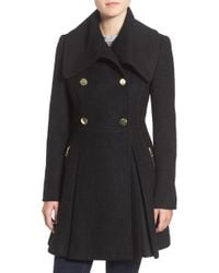 Guess - Envelope Collar Double Breasted Coat - Lyst