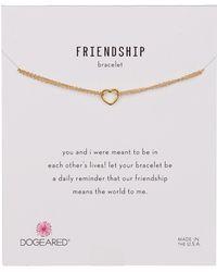 Dogeared - 14k Gold Vermeil Friendship Open Heart Bracelet - Lyst
