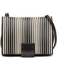 Christopher Kon | Striped Combo Leather Micro Crossbody Bag | Lyst