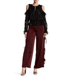 Do+Be Collection | Side Tie Satin Trousers | Lyst