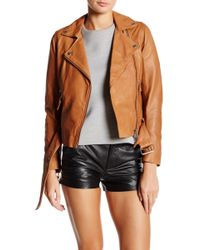 Muubaa - Manning Genuine Leather Biker Jacket - Lyst