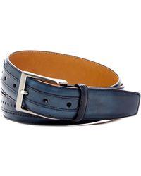 Magnanni - Flash Brogued Leather Belt - Lyst