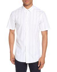 Calibrate - Slim Fit Stripe Short Sleeve Sport Shirt - Lyst