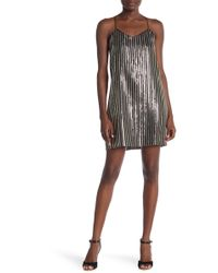 Cece by Cynthia Steffe - Mia Striped Sequin Dress - Lyst