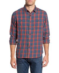 Grayers - Trent Modern Fit Slubbed Windowpane Sport Shirt - Lyst