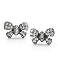 Dana Rebecca - 14k Black Rhodium Margo Ashley Diamond Bow Stud Earrings - 0.18 Ctw - Lyst