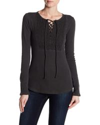 Lucky Brand | Lace Up Bib Thermal | Lyst